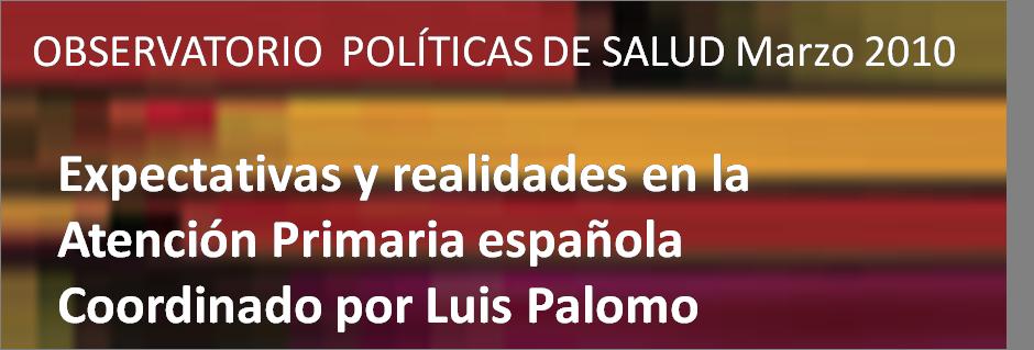Estudio sobre la Atención Primaria en España