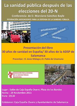 30 años de sanidad en España/ 30 años de ADSP en Salamanca