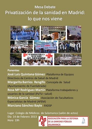 La ADSP de Salamanca con la marea blanca de Madrid