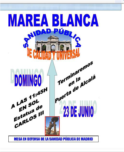 MAREA BLANCA MADRID 23 JUNIO