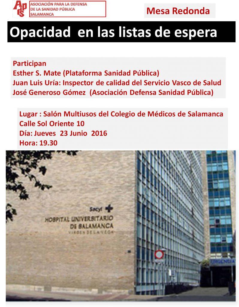 Listas de espera en Salamanca