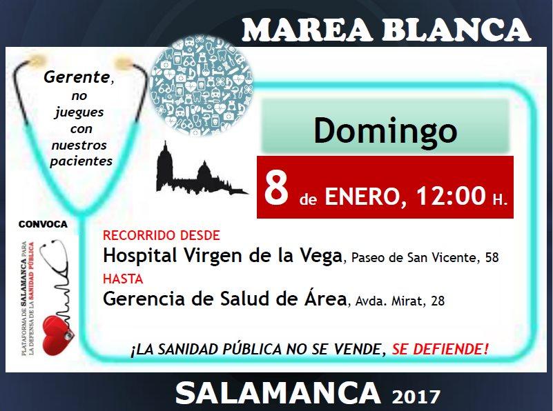 MAREA BLANCA 8 DE ENERO DE 2017. SALAMANCA