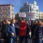 La ADSP en la manifestación de Valladolid por la defensa de la sanidad pública.